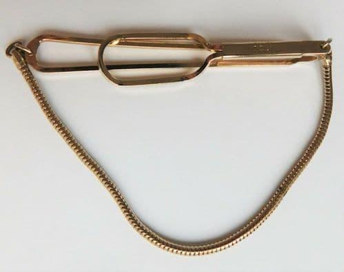 Vintage Stratton tie retainer clip chain cravat clasp mens equestrian jewellery